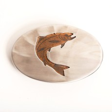 Polished Steel Trout Belt Buckle
