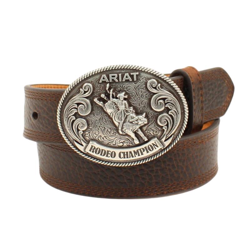 Ariat   Leather Rodeo Champion Belt