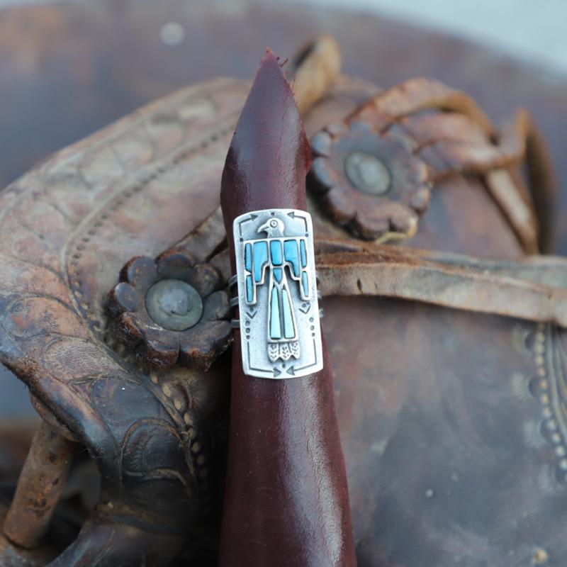 Peyote Bird | Thunder Bird Ring, Size 8