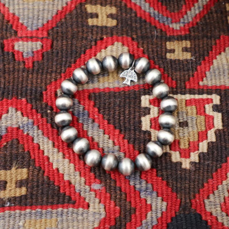 Peyote Bird   Large Navajo Pearl Bracelet 10mm