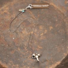 Peyote Bird | Three Squash Blossoms Necklace