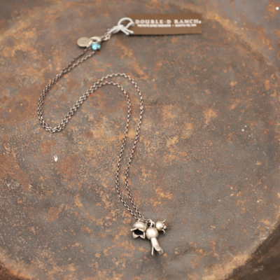 Peyote Bird | Three Squash Blossoms Necklace