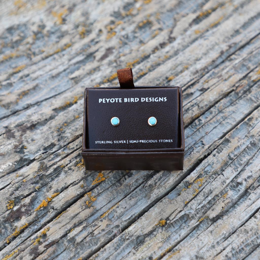 Peyote Bird | Turquoise Stud Earrings