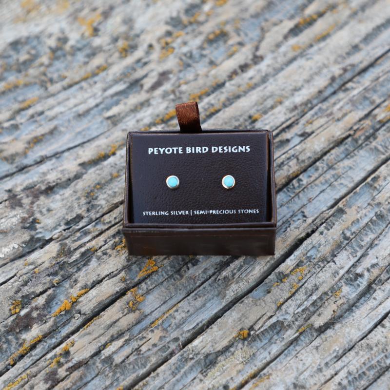 Peyote Bird   Turquoise Stud Earrings