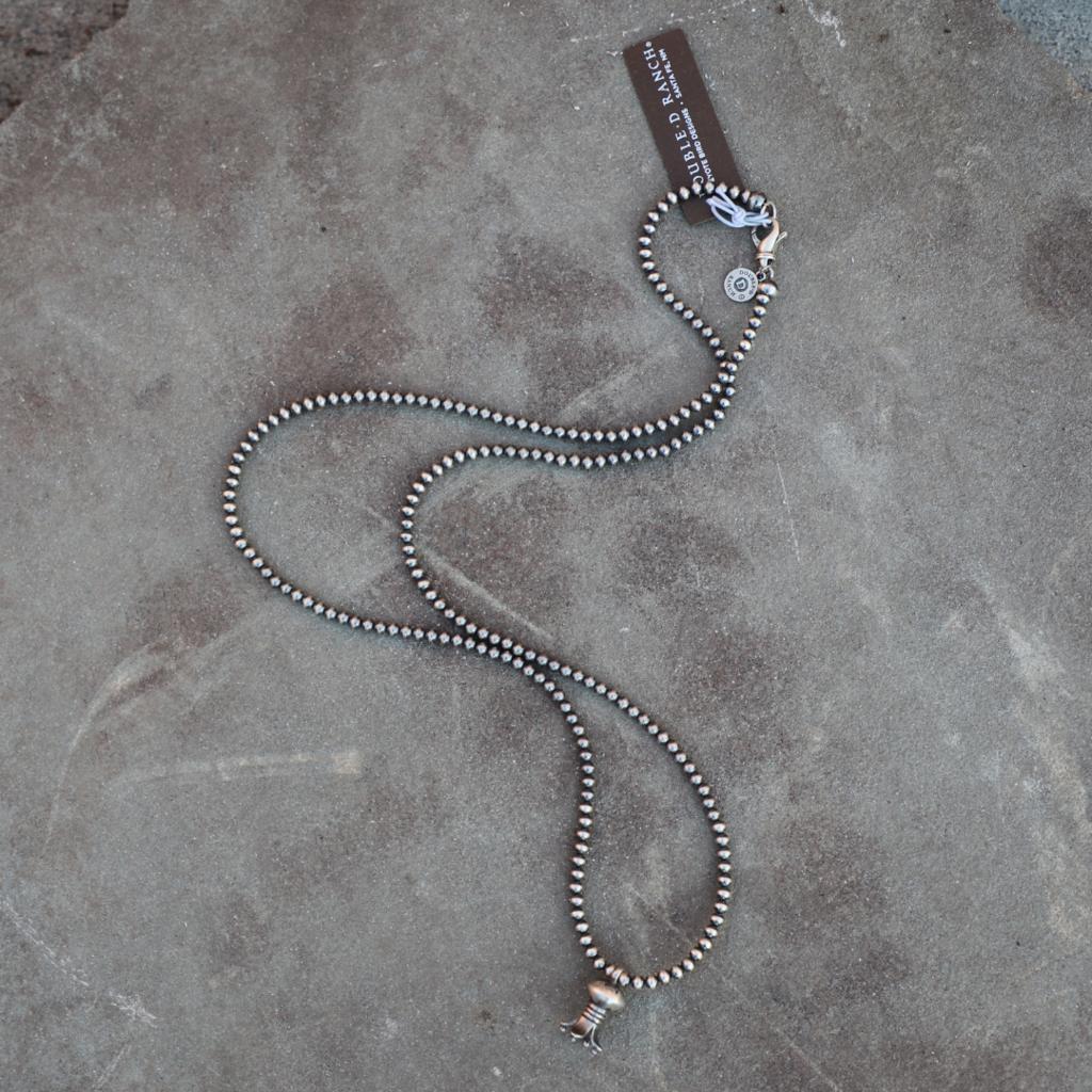 Peyote Bird | Desert Pearl Collection Mini Squash Blossom Necklace