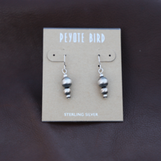 Peyote Bird | Navajo Solid Pearl Drop Earrings