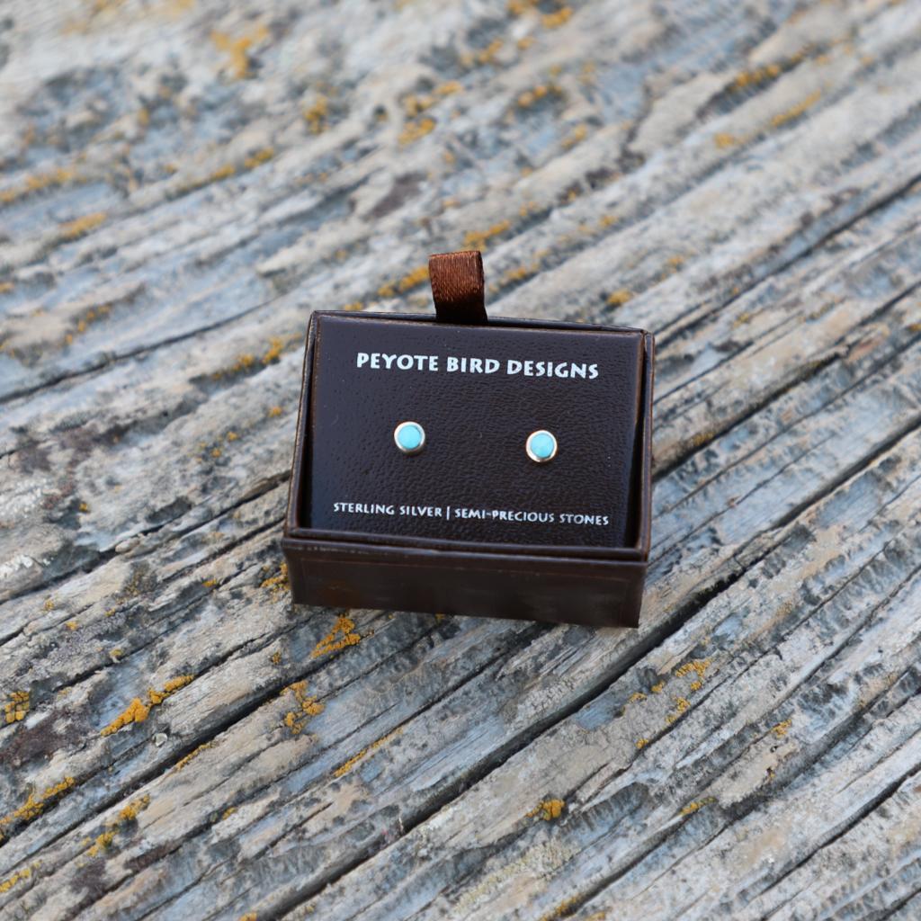 Peyote Bird | Small Turquoise Stud Earrings