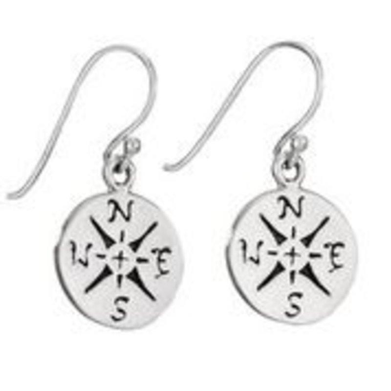 Sterling | Compass Earrings