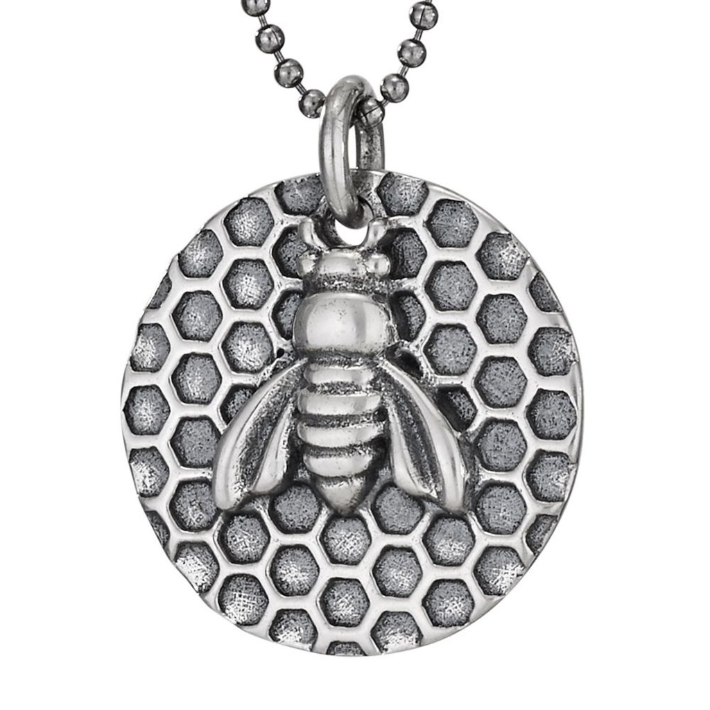 Sterling | Bee Honeycomb Necklace