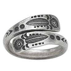 Feather Wrap Ring | Size 7, 8, 9