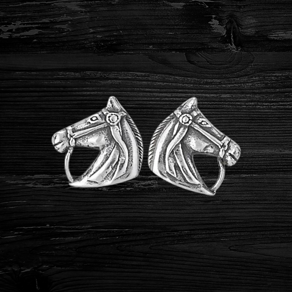 Sterling | Horse Stud Earrings