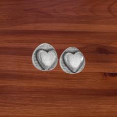 Sterling   Heart Stud Earrings