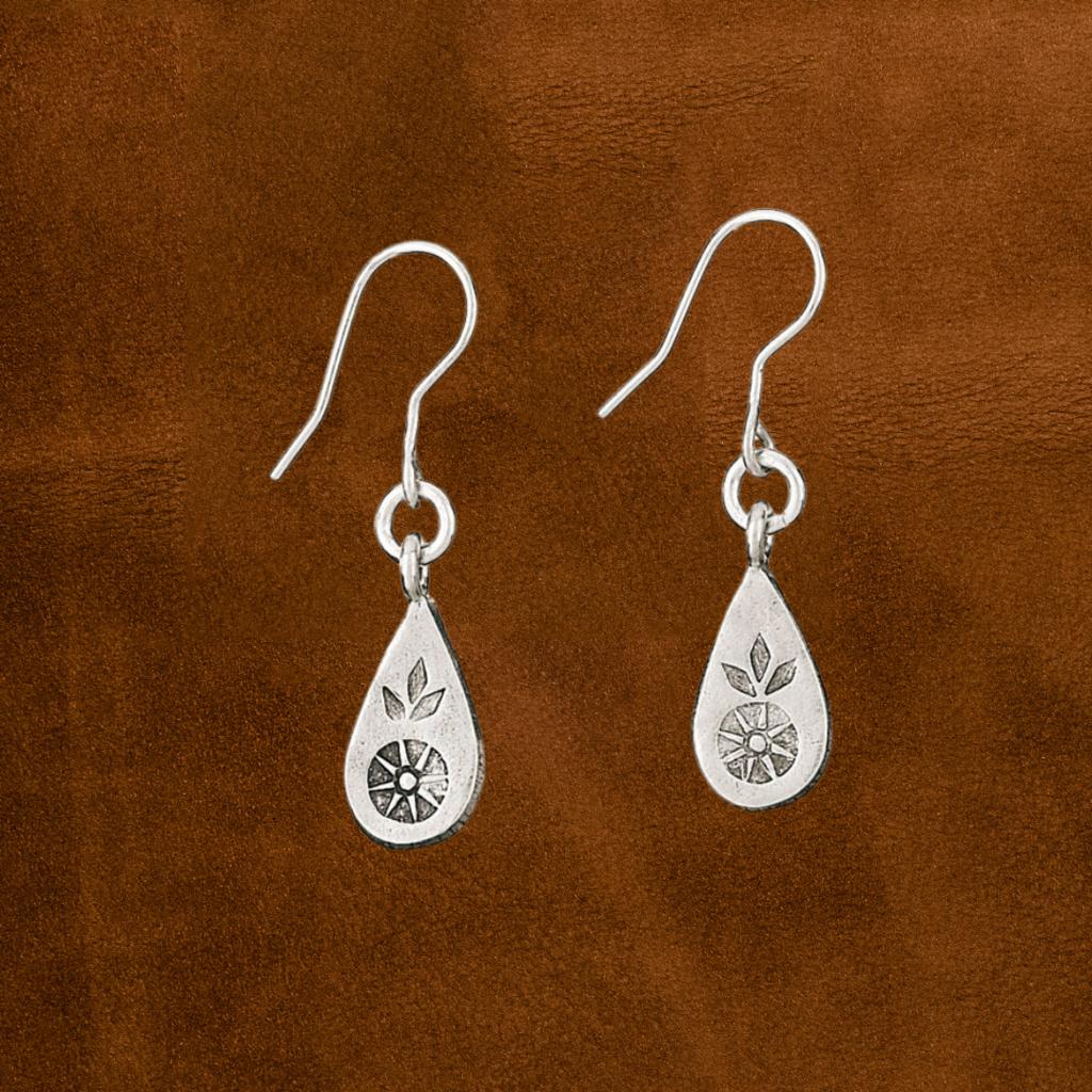 Sterling | Flower Leaf Earrings