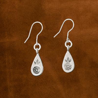 Flower Leaf Earrings