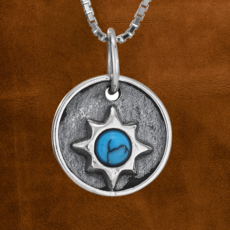 Sterling   Turquoise Star Necklace