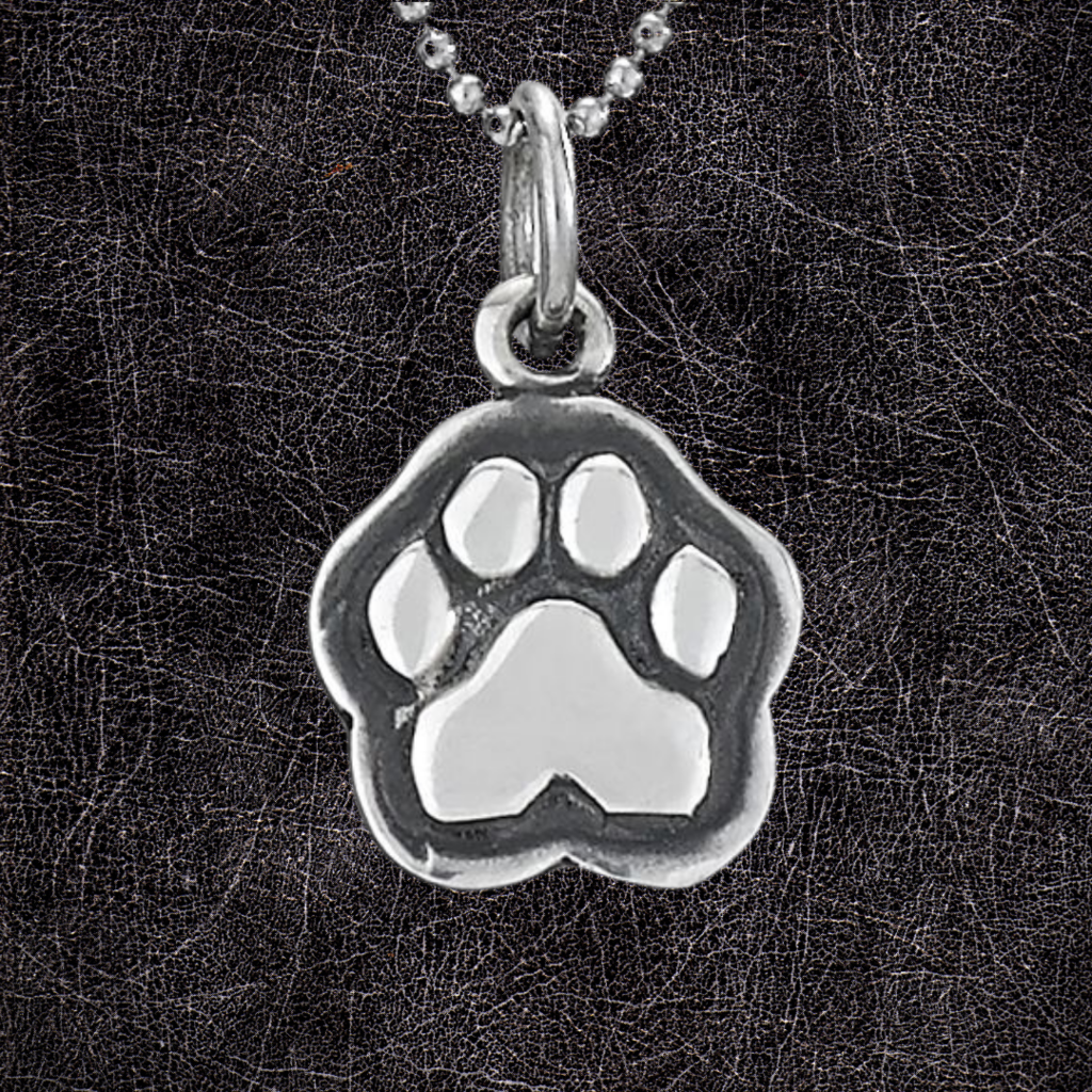 Sterling Silver | Dog Paw Necklace