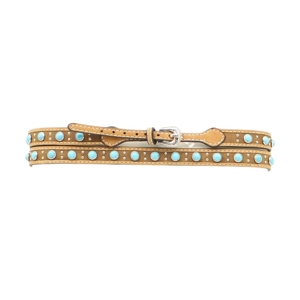 M&F Western | Leather Hatband With Turquoise