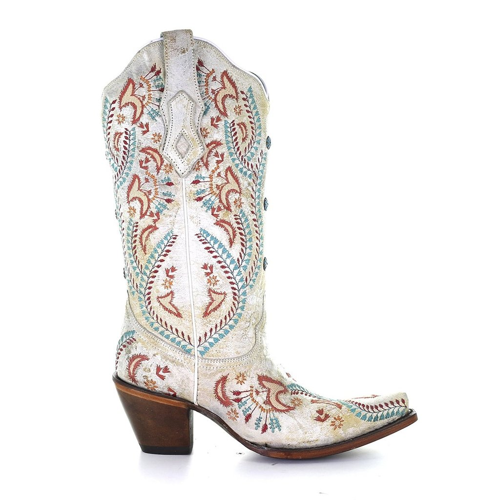 Corral | White, Turquoise, Red Boots