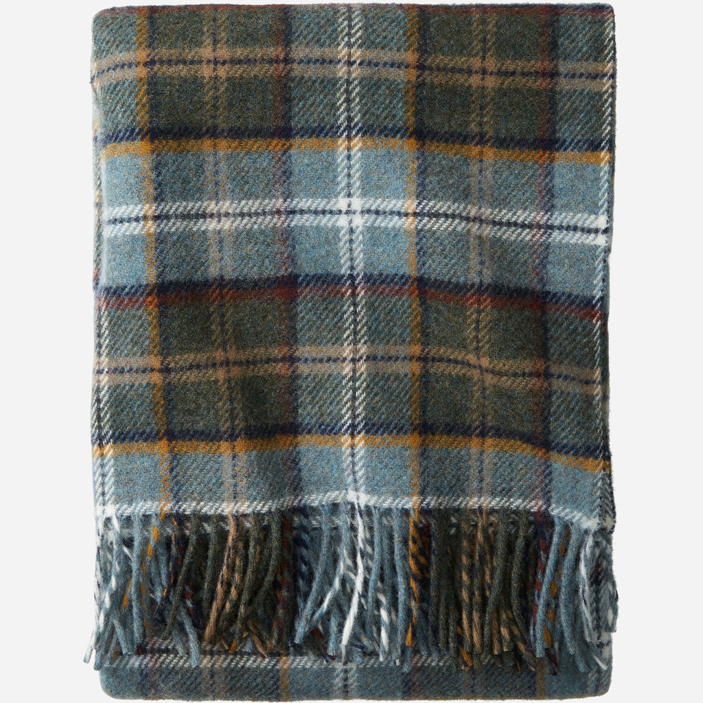 Pendleton Pendleton | EcoWise Easy Care Throw Blanket, Fringe in Shale Plaid