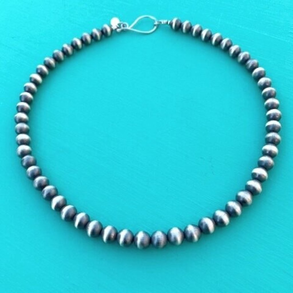 """Cynthia Out West   8mm Navajo Pearls 18"""""""
