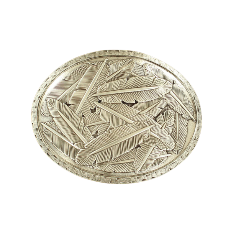 Nocona | Oval Feather Buckle