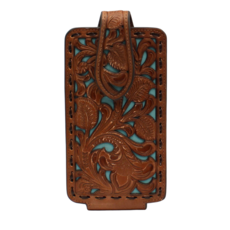 Nocona | Turquoise Tooled Cell Phone Holder