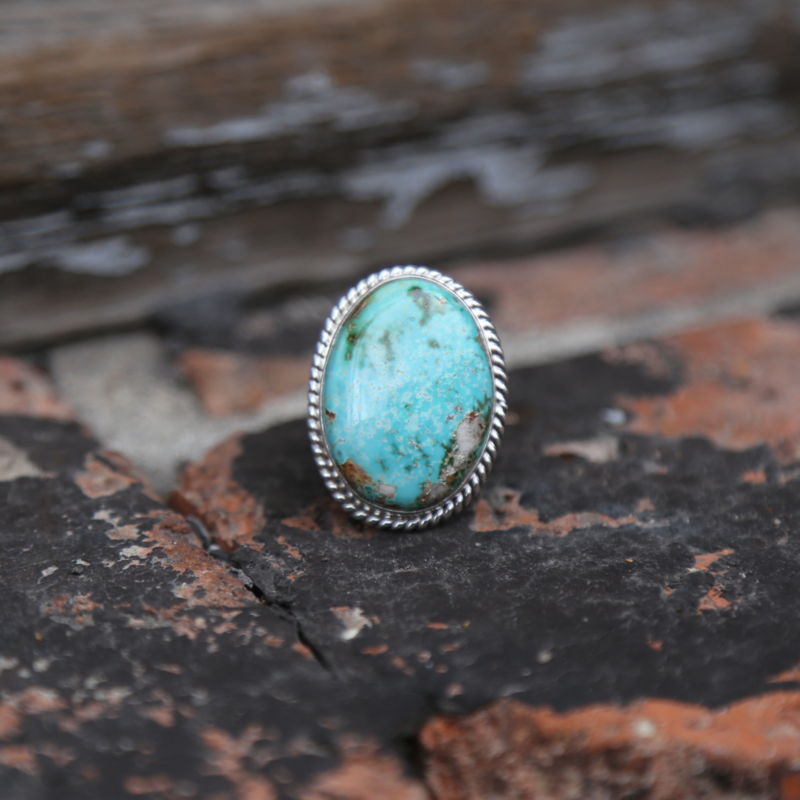 Sterling | Royston Turquoise Ring | Size 8