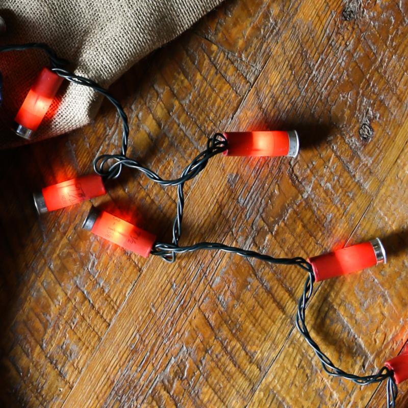 Upcycled Shotgun Shell Lights | Red