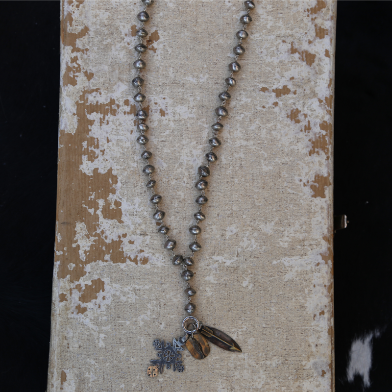 3 Angels   Silver Madonna Necklace