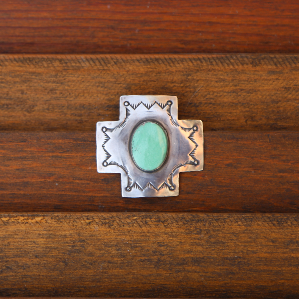 Sterling | Green Turquoise Pendant
