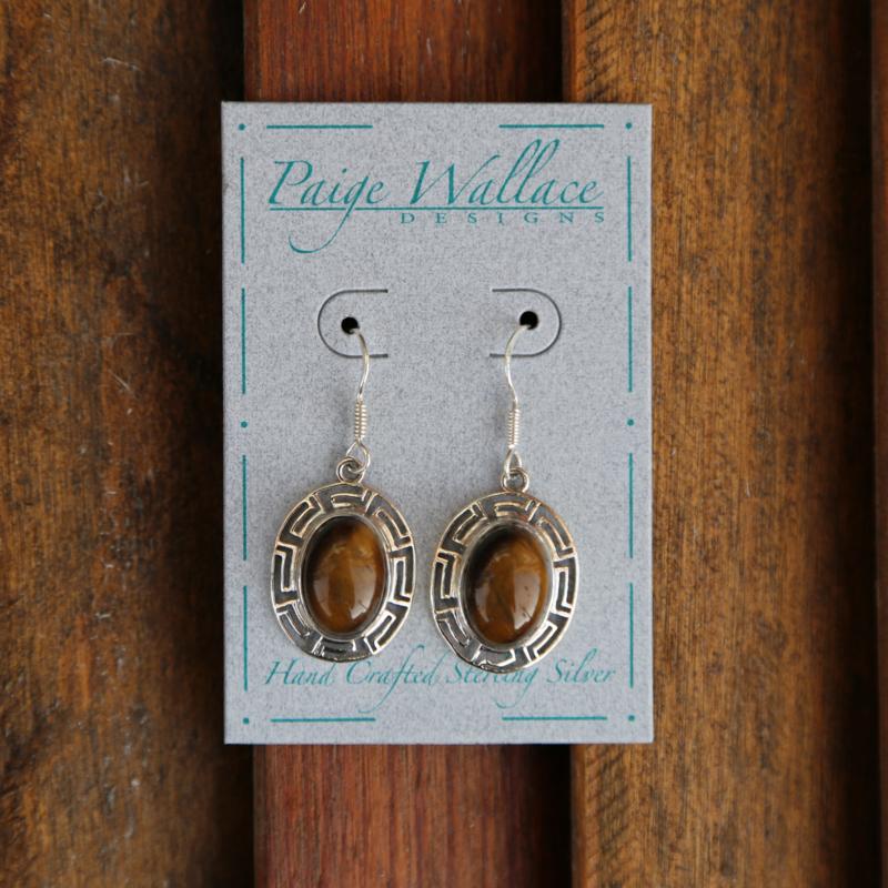 Paige Wallace | Aztec Tiger Eye Earrings