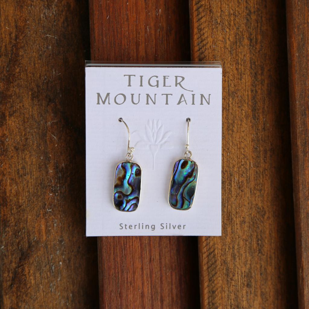 Tiger Mountain | Abalone Shell Sterling Earrings