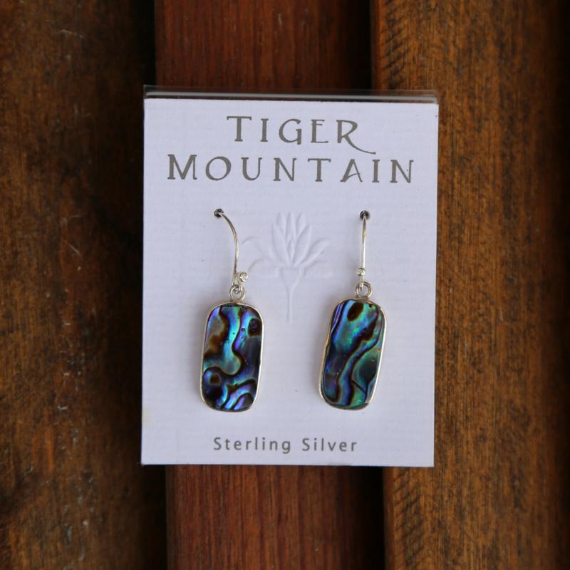 Tiger Mountain | Abalone Shell Earrings
