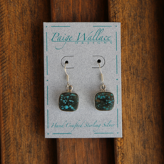 Paige Wallace   Turquoise Sterling Silver Earrings