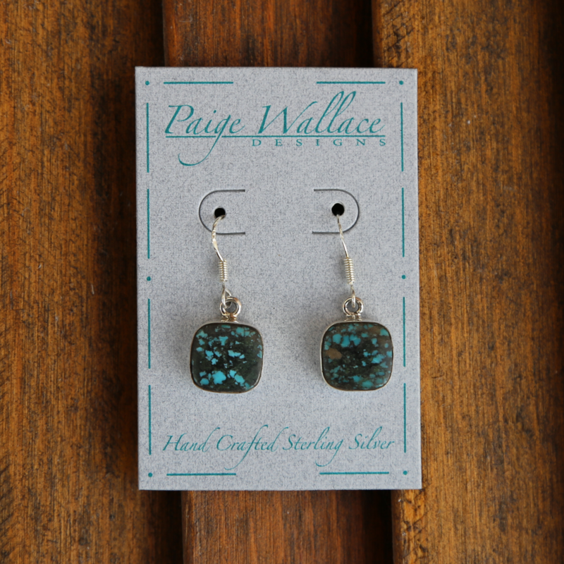 Paige Wallace | Turquoise Sterling Earrings