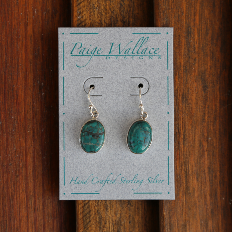 Paige Wallace   Turquoise Sterling Earrings
