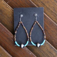 Chelsea Collette   Lipshell Turquoise Earrings