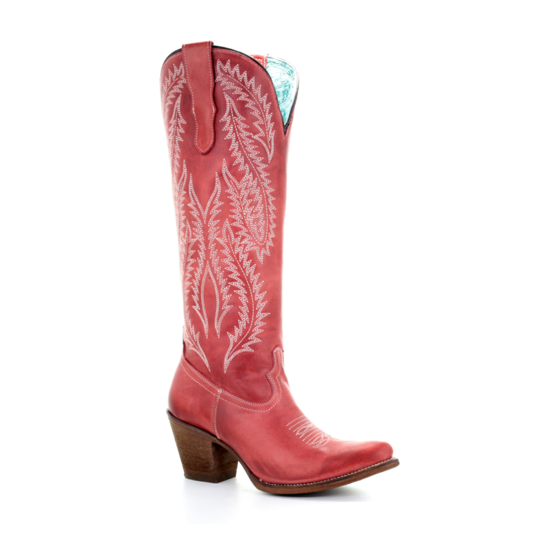 Corral   Red Embroidered Boots