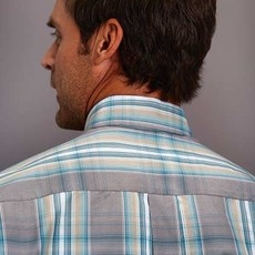 Stetson | Plaid Satin Stripe Shirt
