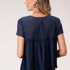 Roper | Cotton Viscose Georgette Top