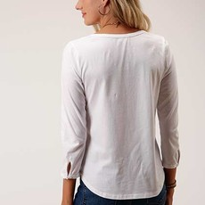Roper | Floral Yoke Embroidered Top
