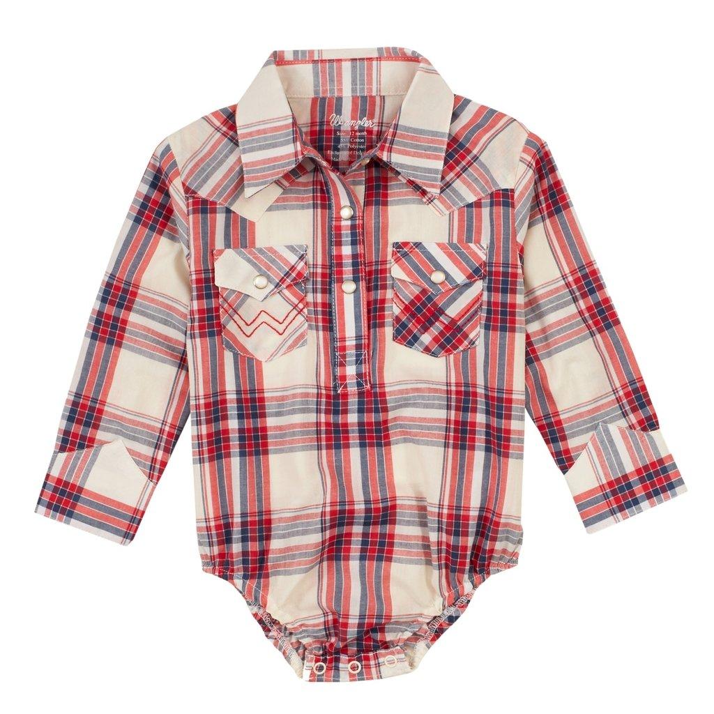 Wrangler   Baby Girl Plaid Bodysuit