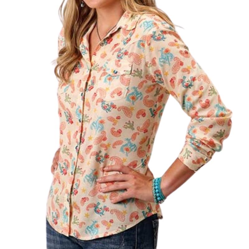 Roper   Cowgirls Print Shirt