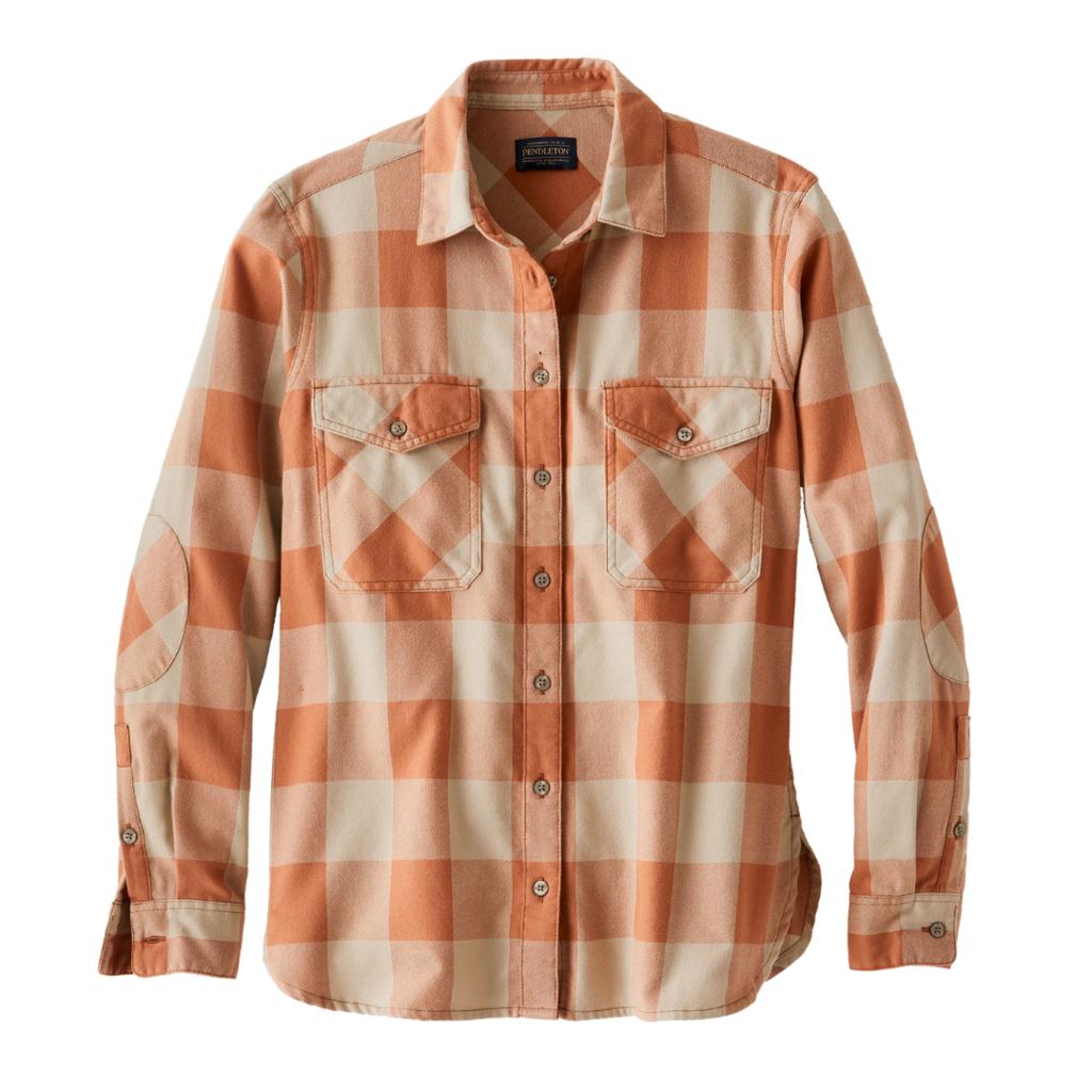 Pendleton Pendleton | Elbow Patch Flannel Shirt in Sierra Brown Check