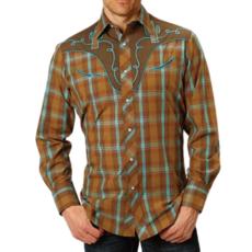 Roper   Plaid Western Snap Shirt