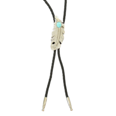 Double S | Feather Bolo Tie