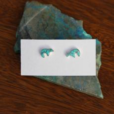 Sterling | Zuni Bear Turquoise Earrings
