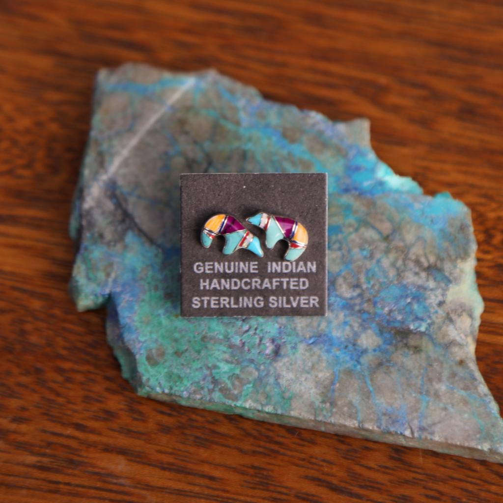 Sterling | Zuni Bear Earrings