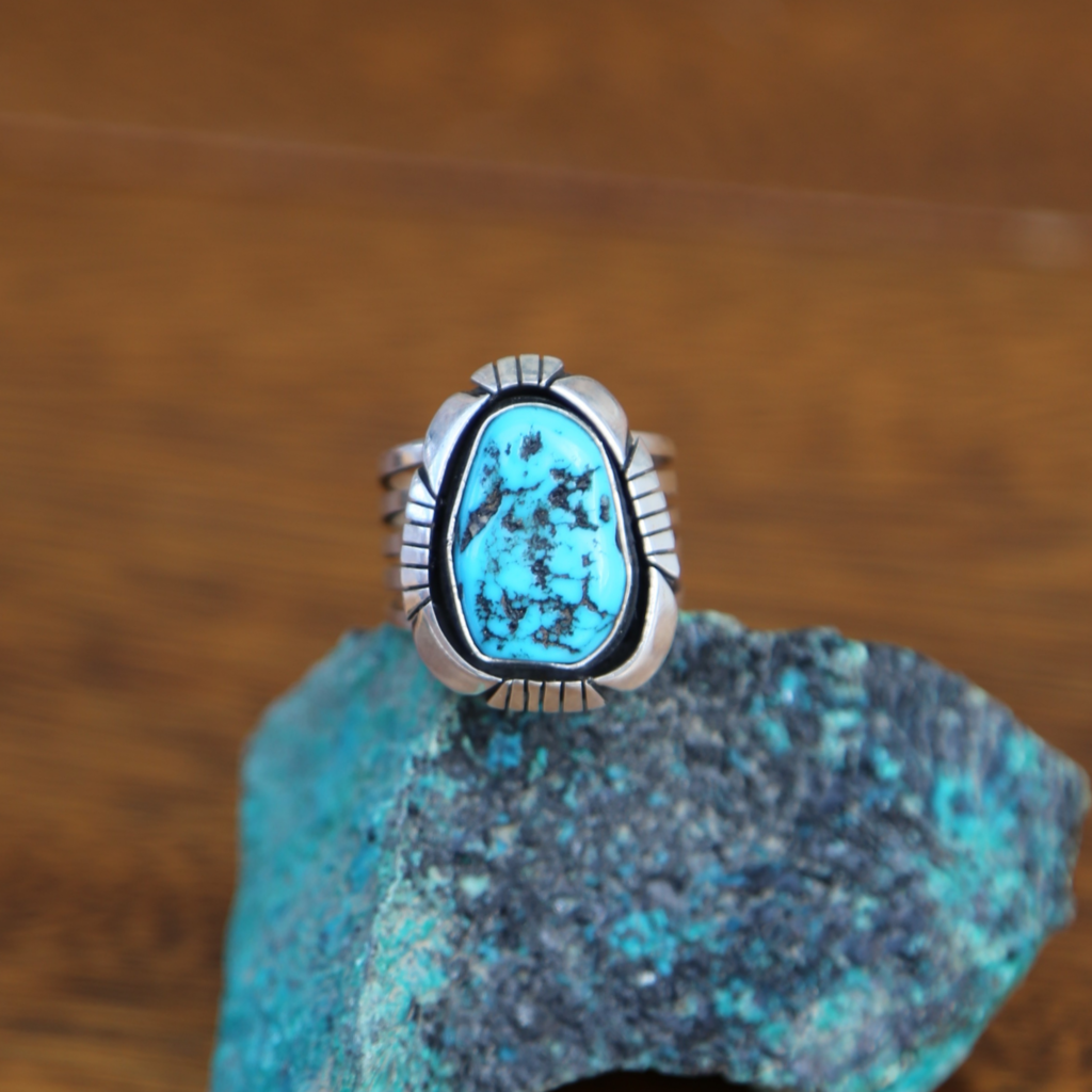 Sterling   Turquoise Ring   Size 9 1/2