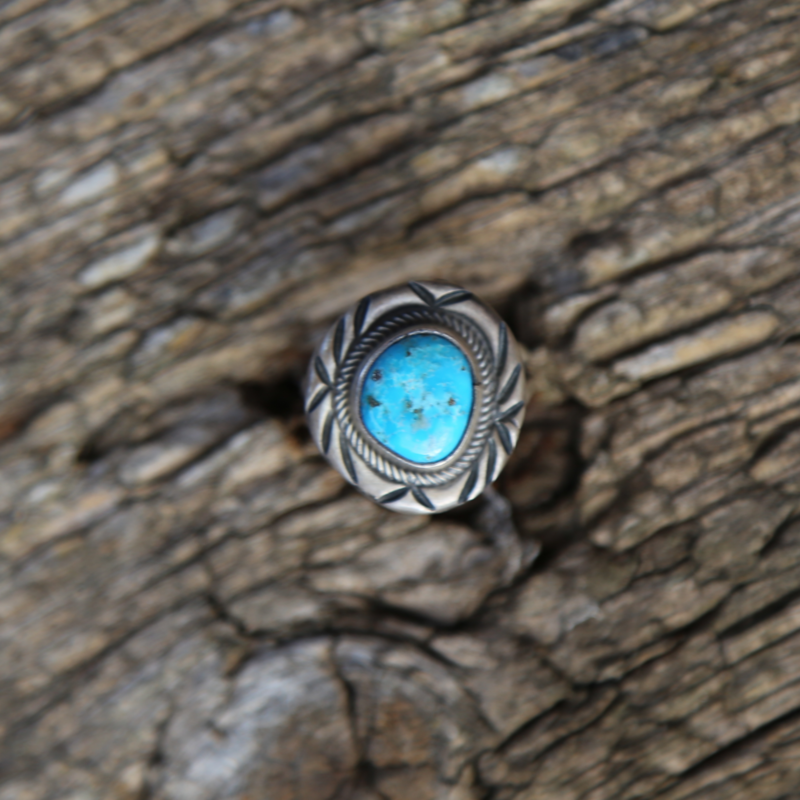 Sterling | Turquoise Ring | Size 8 1/4